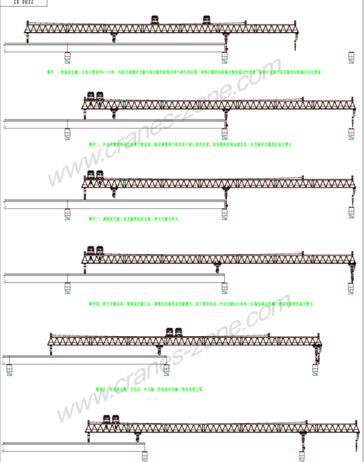Launching Gantry Crane with Varied Launching Capacities and Heights
