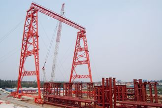 चीन OEM Rubber Tyred Steel Gantry Crane With Trolley आपूर्तिकर्ता