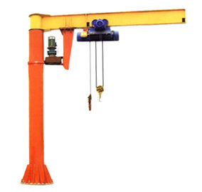 चीन Sturdy Steel Structure Pillar Motorized Jib Cranes for Fitting Fabrication Workstations फैक्टरी