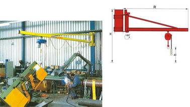 चीन BZ3t Light Duty Wall Mounted Slewing Jib Cranes for Plant Room Maintenance फैक्टरी
